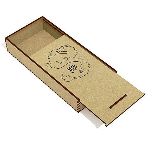 Azeeda 'Zodiaco Drago' Astuccio per matite in Legno (PC00015017)