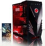 VIBOX Warrior 4 - Ordenador para Gaming (AMD FX-6300, 8 GB de RAM, 1 TB de Disco Duro, AMD Radeon R7 370) Color neón Rojo