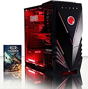 Vibox Warrior 4 Desktop Gaming PC with WarThunder Game Kit and Red Case (AMD FX Six Core 4.1 GHz Processor,  8 GB RAM, 1 TB Hard Drive, Radeon R7 370 Graphics Card)