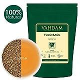 Tè verde indiano Tulsi. Squisita miscela disintossicante di tè verde con foglie fresche di basilico, UN POTENTE ANTIOSSIDANTE, 100% tè Tulsi naturale in foglie - 100g