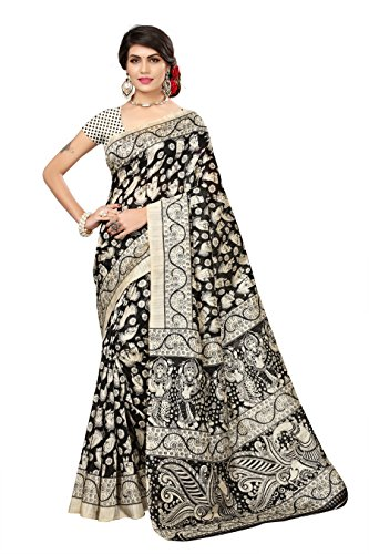 OOMPH! Art Silk Saree With Blouse Piece (rbks_festival079_Egg-Nog Beige_Free Size)