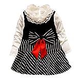 Hirolan Babykleidung Herbst Kinder Mädchen Party Spitze Tutu Prinzessin Kleid Säugling Baby Kleider Outfits Kinderbekleidung (80cm, Schwarz 9)