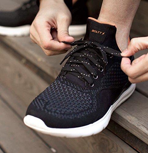 Boltt Men's Smart Black Running Shoes-9 UK/India (43 EU)(BSSIII0012)