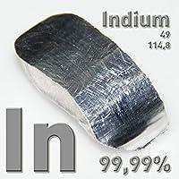 Surtida en 99,995% (4N5), 250g, 0,25kg, hochreines Element # 49, metal, CAS 7440–74–6