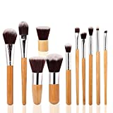Marke neuen 11pcs natur Holz Kosmetikpinsel Kits Haar Make Up Pinsel mit Tasche