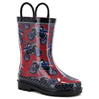 Western Chief Boys Limited Edition Waterproof Rubber Rain Boot (9, Monster Crusher)