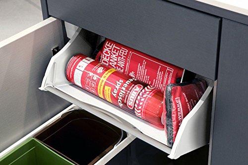 Preisvergleich Produktbild Hailo Combi Deposito Kippsystem für 60 cm Schrankbreite 9, 3 L inkl. Feuerlöschspray und Feuerlöschdecke,  B 568 x T 183 x H 188 mm (Ordnungssysteme Zubehör Spülenschrank)