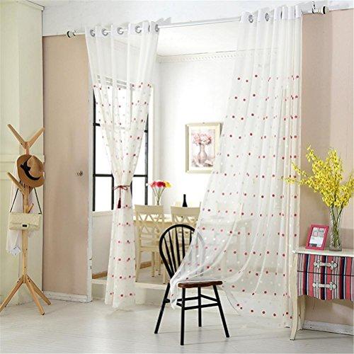 Preisvergleich Produktbild GUOCAIRONG® Tulle Vorhänge Modern Pattern Blended Flachs Tüll Vorhänge für Wohnzimmer Fenster Screening Voile Sheer Vorhänge für Kinder 1 Stück , 2*2.7m