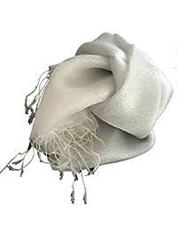 LadyMYP 200*65 cm Luxus Doppel Stola Schal aus Seide & Faden oder Seide & Baumwolle, mehrere Farben zur Wahl