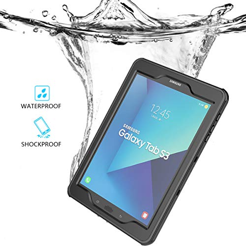 fitmore Samsung Galaxy Tab S3 9.7 Waterproof case, Waterproof Case Replacement for Samsung Galaxy Tab S3 9.7 Snowproof Shockproof DirtProof Protection Protector Cover Case - Case Galaxy Samsung Waterproof S3