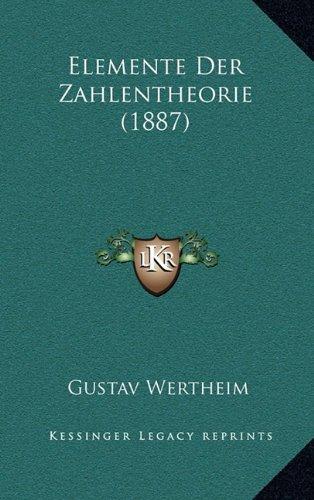 Elemente Der Zahlentheorie (1887)
