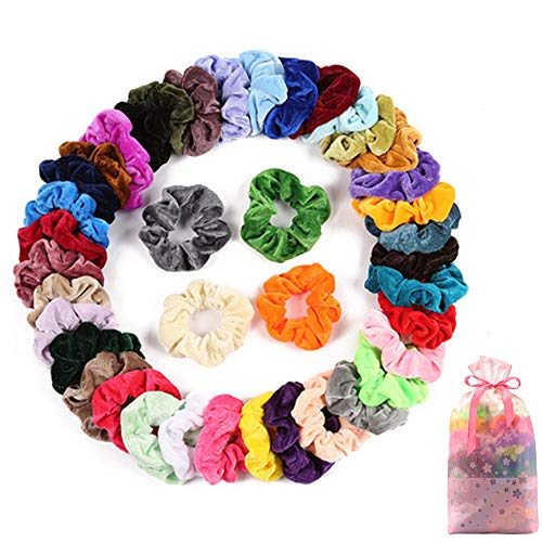 Ecbrt 40 Pcs Hair Scrunchies Vel...