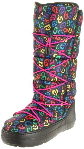 Crocs Kosmo Leopard Boot (Black/Berry)