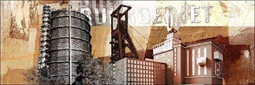 Pro-Art g1271m Wandbild Giclée 'Ruhrgebiet' 120 x 40 cm