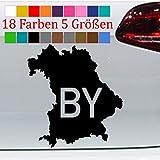 Generic Bayern Urlaub Aufkleber Karte Bundesland VW Sticker Tuning 18 Farben 5 Größen