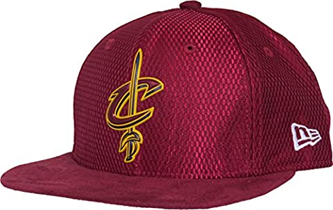 New Era Cleveland Cavaliers 9FIFTY OF NBA 2017 On-Court Snapback Casquette, Taille S/M