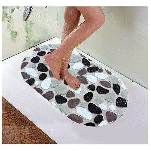 Kungfu Mall BX-118 PVC Anti-Rutsch-Badematten Kieselsteindusche Anti-Rutsch-Teppich Badezimmer Badteppich