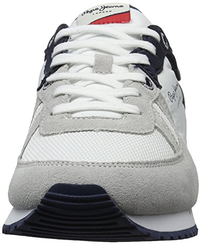 Pepe Jeans Tinker Jack, Sneakers Basses Homme Blanc (White)