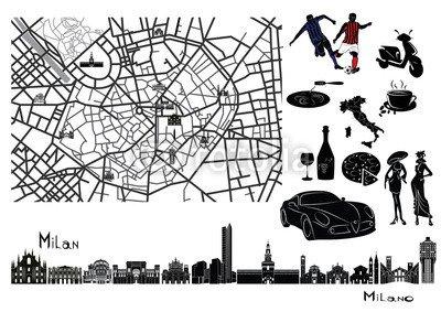 poster-bild-100-x-70-cm-map-sights-and-hallmarks-of-milan-bild-auf-poster