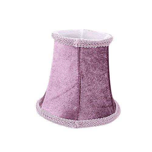 Gladle Stil Retro Tuch Stoff Lampenschirm für Wandleuchte Kronleuchter Kerze Kristall Lampe (purpurrot)