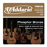 Best D'Addario Acoustic Bass Guitars - D'Addario PBB130 .130 Phosphor Bronze Long Scale Single Review
