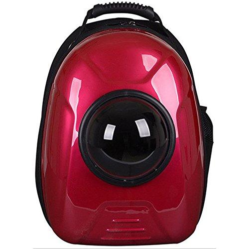Pet Katzen und Hunde Haustier Paket Kapsel Außenhandel Paket Hund Katze aus tragbaren atmungsaktive Tasche Rucksack Laptop-Stil Push-Pull-Trolley-Auto (Color : Rot)