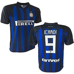 F.C. INTER Sweatee Icardi Soccer Jersey Autorizado Réplica 2018-2019 Niño (Tamaños 2 4 6 8 10 12) Adulto (S M L XL) (4 Años)
