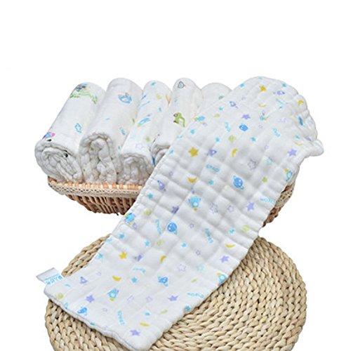 QIAN Baby-Windeln Baumwollgaze waschbar atmungsaktive Windeln wieder verwendbare Harn- Ring 10 dicken, weichen Tuch
