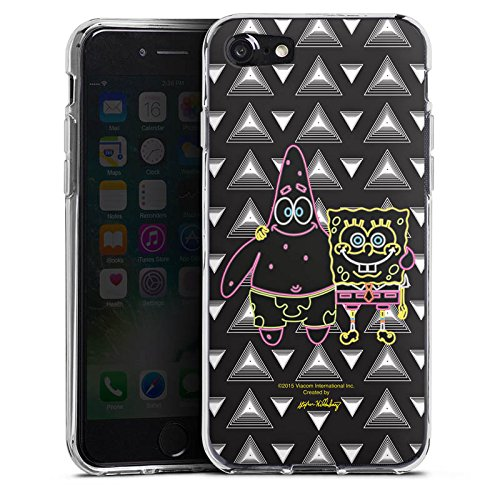 Apple iPhone X Silikon Hülle Case Schutzhülle Spongebob Merchandise Fanartikel Spongebob und Patrick Silikon Case transparent