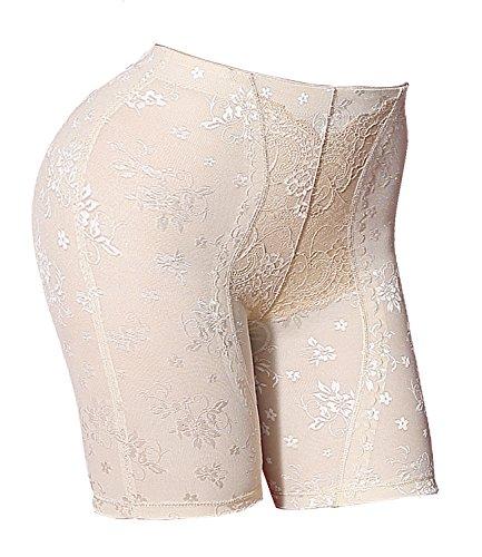 Frauen Körper Shaper Tummy Control Briefs Hohe Taille Panty Unsichtbare Shapewear (XL, Beige) (Korsett Großhandel)