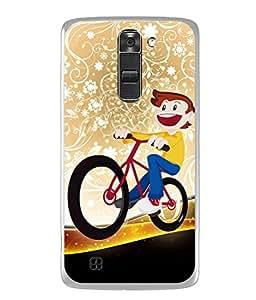 PrintVisa Designer Back Case Cover for LG K7 :: LG K7 Dual SIM :: LG K7 X210 X210DS MS330 :: LG Tribute 5 LS675 (Graduating Graders Gracie Glance Endangered Dungeon Disgust Devious)