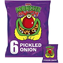 Walkers Monster Munch Pickled Onion Crisps, 6 x 22g