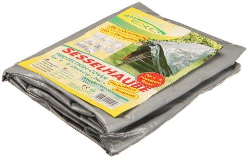 Bio Green Rain Exo RX90-4SS SG Housse de Protection très résistante aux déchirures pour 4 chaises empilables Gris argenté 0,65 x 1,15 x 0,68 m