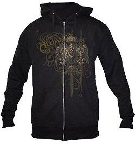 World of Warcraft T-Shirt Allianz Wappen Kapuzenpulli Groesse XL