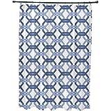 E por diseño todos estamos conectados geométrico impresión cortina de ducha, Cadet