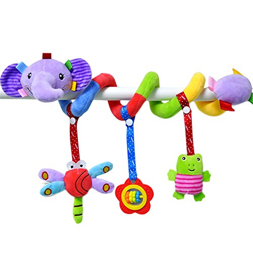 Per passeggino multifunzionale giocattolo culla culla a spirale appeso giocattoli passeggino neonato carrozzina presepe arco peluche giocattolo animale con campanello per lettino/d