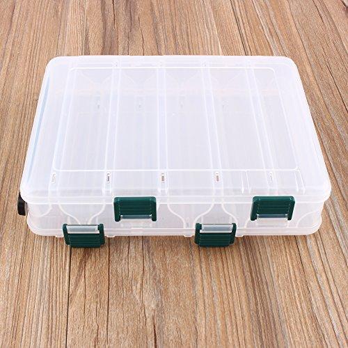 VGEBY1 Fischköder-Kasten, ultraleichter Fischereiköder-Gerät-Behälter-Haken-Kasten für das Fischen