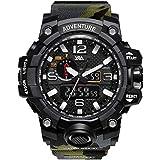 V2A Analogue - Digital Men's Watch ( Black Dial & Strap )