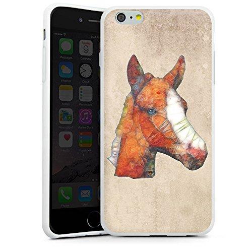 Apple iPhone X Silikon Hülle Case Schutzhülle Pferd Fohlen Ponny Silikon Case weiß