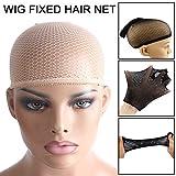 Alexsix Elastic Wig Cap Top Hair Wigs Fishnet Liner Weaving Mesh Stocking Net for Women Men