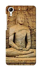 KnapCase Lord Buddha Designer 3D Printed Case Cover For HTC Desire 728