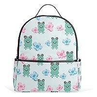 Bennigiry Lightweight Cartoon Frog School Backpack for Boys Girls Teens Kids