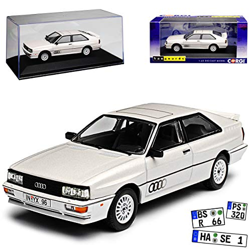 Vanguards Audi Quattro Coupe MKII Linkslenker Weiss 1980-1991 1/43 Modell Auto