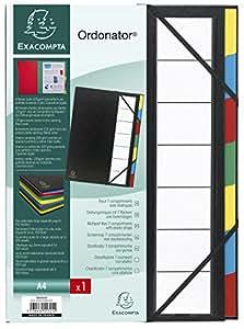 Exacompta 55321E Ordonator Trieur Rigide Ordonator 7 Compartiments Dos Extensible Noir