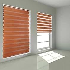 kinlo estor doble enrollable para ventanas y puertas cortina visillos