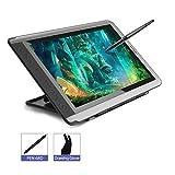 Écran Graphique de Tablette de Dessin à Stylet HUION KAMVAS GT-156HD V2 Full HD IPS, avec une Sensibilité à la Pression de 8192 Niveaux, écran avec Raccourcis
