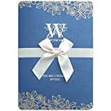 SBL Einladungshochzeitseinladungs-Einladungskarte der Persönlichkeit Kreative Hohle - Bogenhochzeitskarte,Blau,260 * 190mm