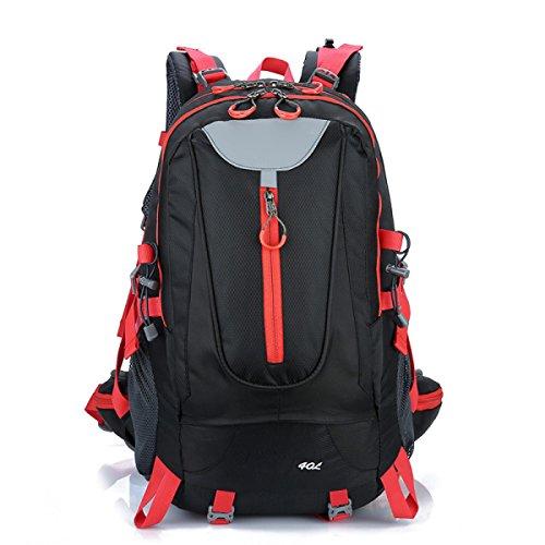 Rucksack Rucksack Wandern Outdoor Bergsteigen Reisen Casual Daypack Hochleistungs-Taschen,Black Black