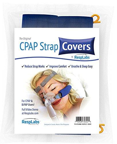 Resmed-nasen-maske (CPAP-Bügel-Cover, Fleece-Material Comfort Pad w / Führungsdraht durch RespLabs Medical | Reduzieren Rötungen, Minimieren Strap Marks - The Original Cheek Kissen (2 Pack))