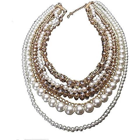 Moda Stile Europeo Vendita Calda Lega Cristallo Perla Multistrato Per Le Vacanze Regalo Donne Collana